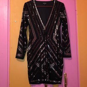 Black Express sequin dress